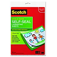 Scotch Single-Sided Laminating Sheets, 9 x 12-Inches, Letter Size (LS854SS-10) by Scotch