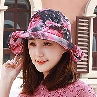 Chuiqingwang 帽子と少女とバイザーの裏側帽子太陽の帽子屋外ビーチ砂盆地キャップ帽子帽子キャップ (Color : A, サイズ : M)