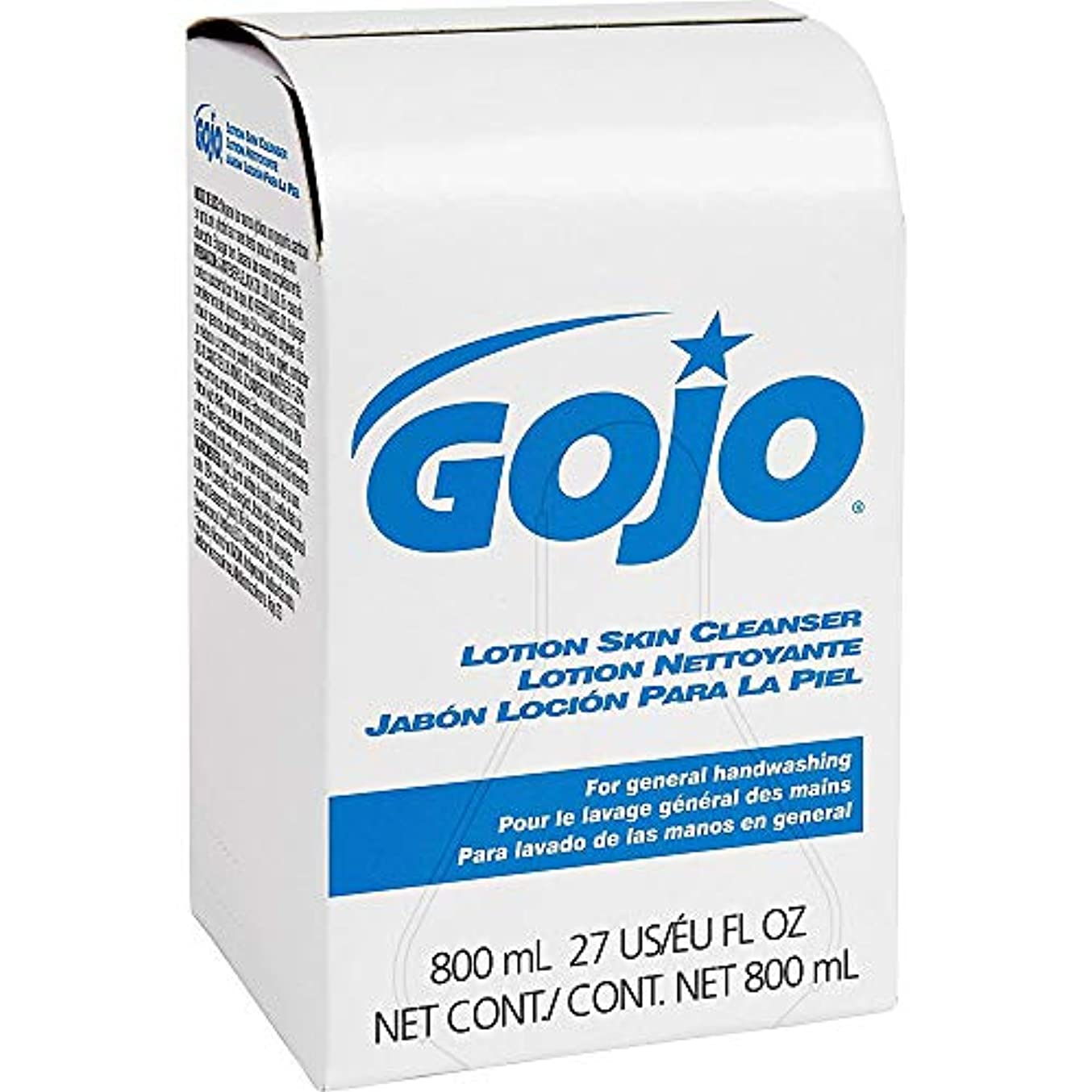 温度計乳製品永遠のGOJO INDUSTRIES 9112-12 800ml Bag-In-Box Lotion Hand Soap Skin Cleanser by Gojo