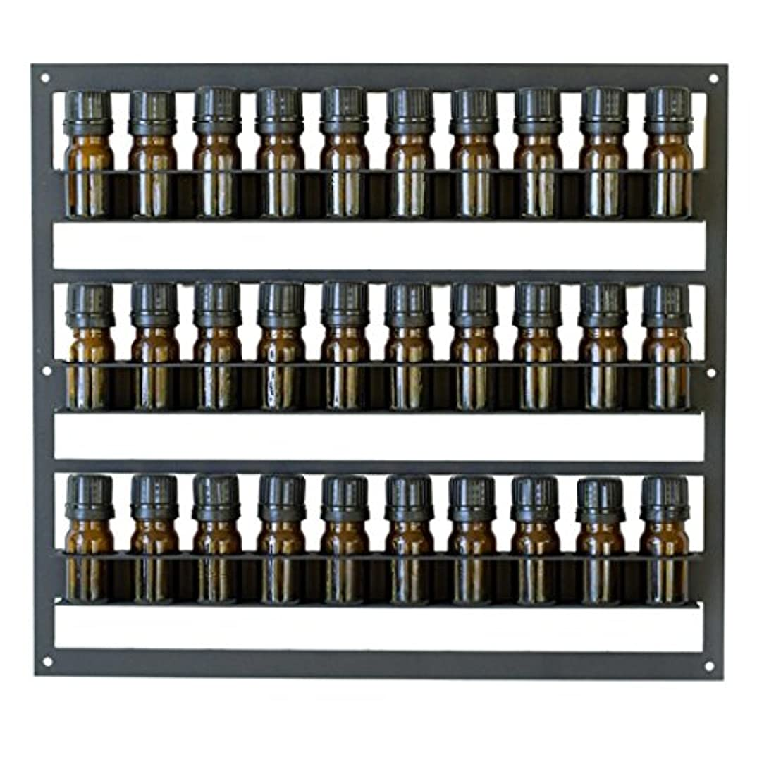 十分な取り壊すフレームワーク(5ml Rack Holds 30) - Storage Rack for Essential Oils Set - Display Stand for 30 Bottles Sized 5 ml - Mounts on...