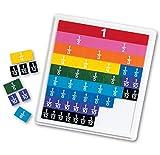 ラーニング リソーシズ(Learning Resources)  算数教材 分数学習 レインボー プラスチックタイル ケース付き LER 0615 正規品