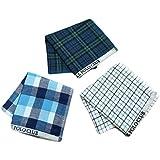 BEVERLY HILLS POLO CLUB メンズガーゼハンドタオル 3枚セット 紳士 ビジネスマン 男性 タオルハンカチ ブルー
