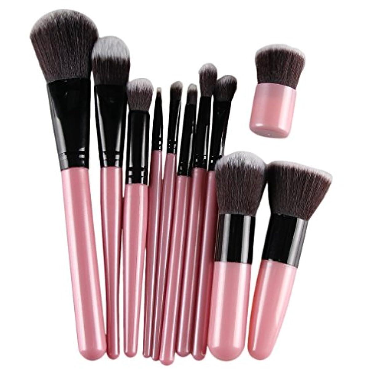 永遠にシチリアわがまま11Pcsプロフェッショナルメイクアップ化粧品のソフトアイシャドウ財団コンシーラーブラシセットウッドは、ブラシ美容ツールのハンドル