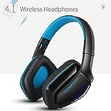 KOTION EACH ヘッドホン 高音質Bluetoothヘッドセット ワイヤレスヘッドフォン マイク内蔵 PS4ヘッドホン 密閉型/折りたたみ式 有線と無線両用 (ブルー&ブラック)