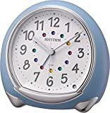 リズム時計 RHYTHM 目覚まし 時計 アビスコSR 静音 ブルー 8RE653SR04