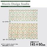 川島織物セルコン Morris Design Studio デイジーシアー カフェカーテン(防炎) 145×60cm DH1400D 【全2種の内[LO・ライトオレンジ]です】