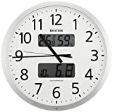 リズム時計 RHYTHM 電波 掛け時計 プログラムカレンダー 403SR シルバーメタリック 色 4FN403SR19