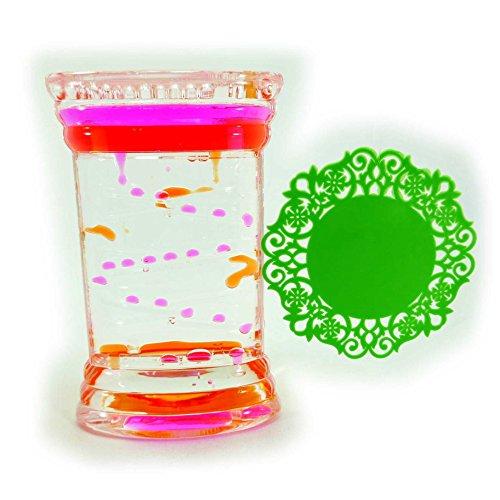 オイルタイマー ピンク オレンジ コースターセット オイル時計 OIL002