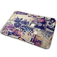 ラグ・カーペット・マット, Doormat, Kitchen Bathroom Floor Carpet Mat, London Paris Mat for Rug Indoor/Outdoor/Front Door/Bathroom Mats/Bedroom Doormat