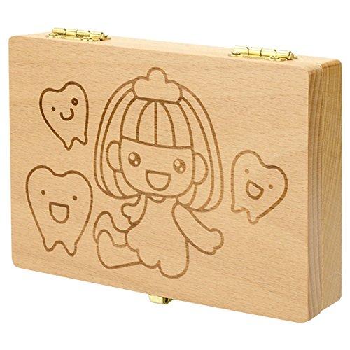 子供の成長の証 プレゼント用 乳歯入れボックス記念 トゥースボックス 防虫効果 名前と抜けた日シール付き 男の子 女の子 二つのタイイプ ケース 赤ちゃん用 かわいい ボーイズ ガールズ (♡ガールズ)