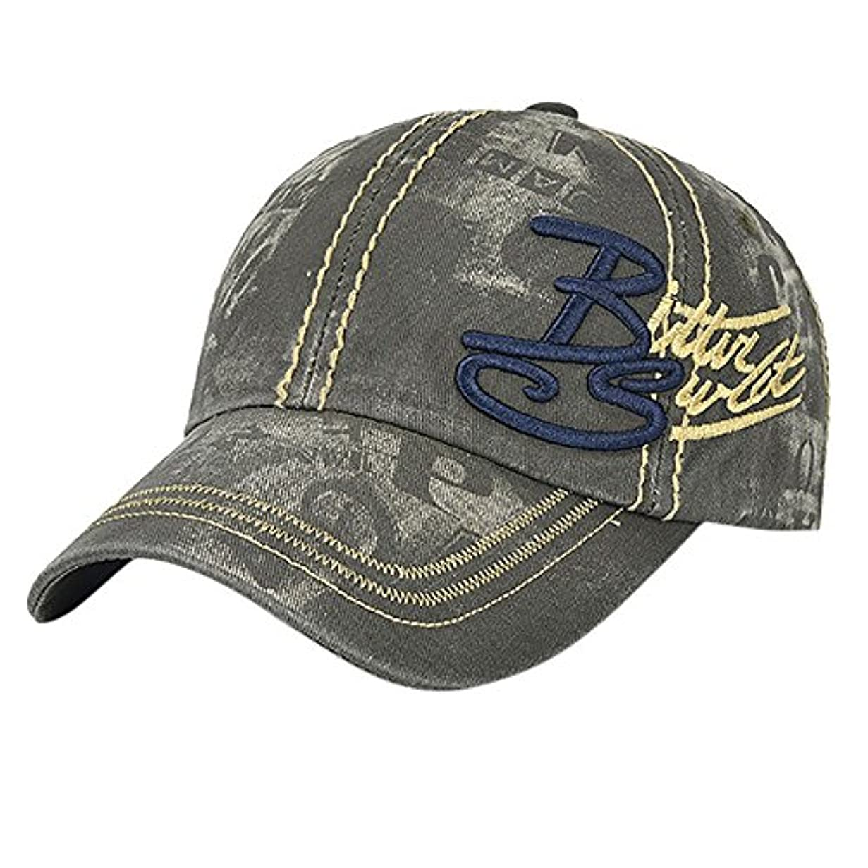 割れ目コウモリ単調なRacazing Cap レトロ カウボーイ 野球帽 ヒップホップ 通気性のある ヒップホップ 帽子 夏 登山 機関車 可調整可能 棒球帽 男女兼用 UV 帽子 軽量 屋外 ジーンズ Unisex Cap (アーミーグリーン)