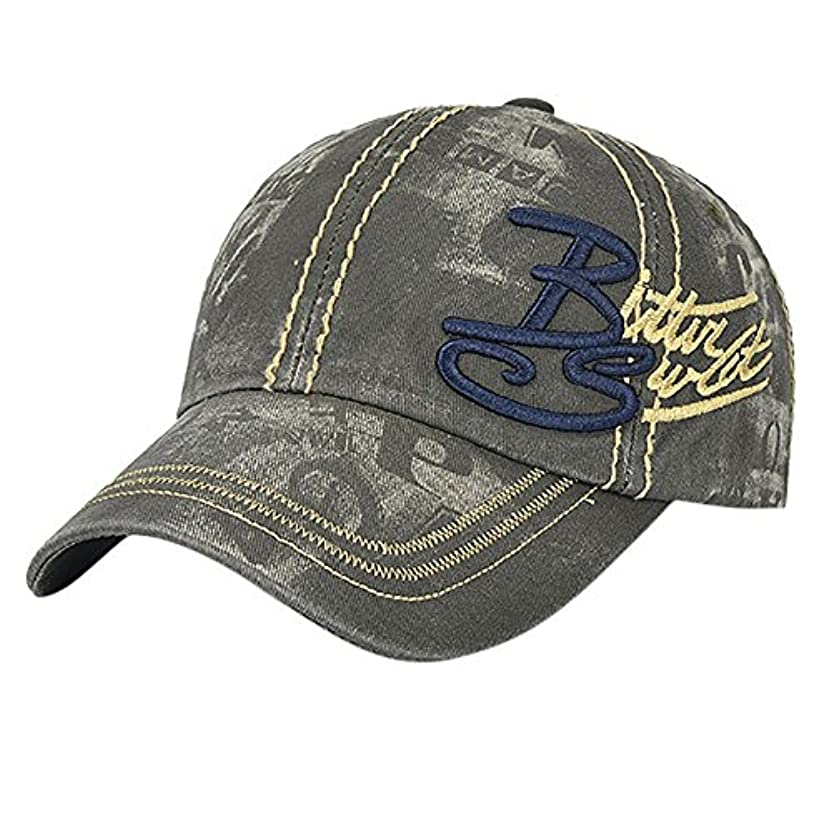 Racazing Cap レトロ カウボーイ 野球帽 ヒップホップ 通気性のある ヒップホップ 帽子 夏 登山 機関車 可調整可能 棒球帽 男女兼用 UV 帽子 軽量 屋外 ジーンズ Unisex Cap (アーミーグリーン)