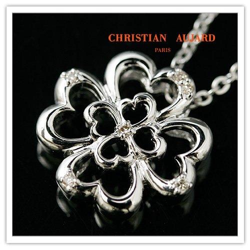 6ダイヤモンド クローバー ペンダント&ネックレス AJ-283 クリスチャン・オジャール