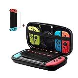 Nintendo Switch 専用保護ケース 任天堂スイッチ収納ケース ニンテンドースイッチバッグ ガラスフィルム無料付き 大容量 EVA素材 防塵 耐衝撃 全面保護 ハンドストラップ付き