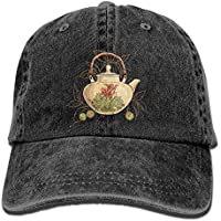pnana-au Tea Time Denim Baseball Caps Hat Adjustable Cotton Sport Strap Cap for Men Women