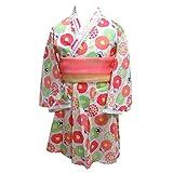 女の子 ハローキティ 帯付き ワンピース 浴衣 浴衣ドレス 51960802 レッド 120cm