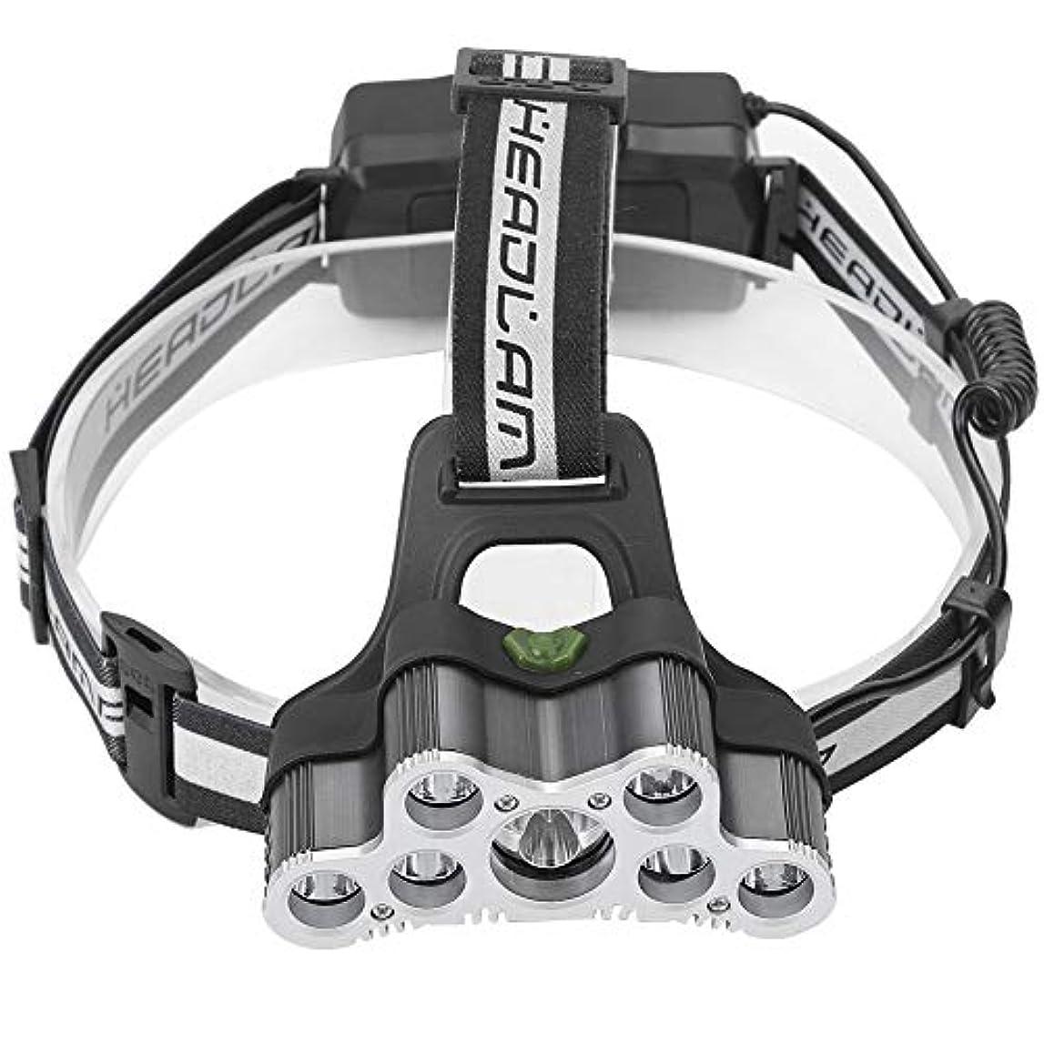 ガラガラキャップ収束するQiilu ヘッドライト LED ヘッドランプ 6点灯モード キャップライト 9個ビーズ IP44防水 調整可能 釣り 登山 夜作業 アウトドア用