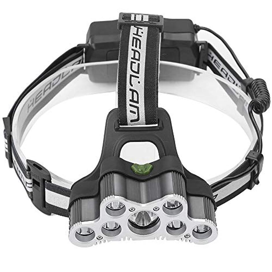 Qiilu ヘッドライト LED ヘッドランプ 6点灯モード キャップライト 9個ビーズ IP44防水 調整可能 釣り 登山 夜作業 アウトドア用