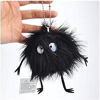 POOM細菌ブラックカーボンボールぬいぐるみバックパックペンダントキーチェーンぬいぐるみぬいぐるみ漫画のおもちゃの子供のギフトぬいぐるみ