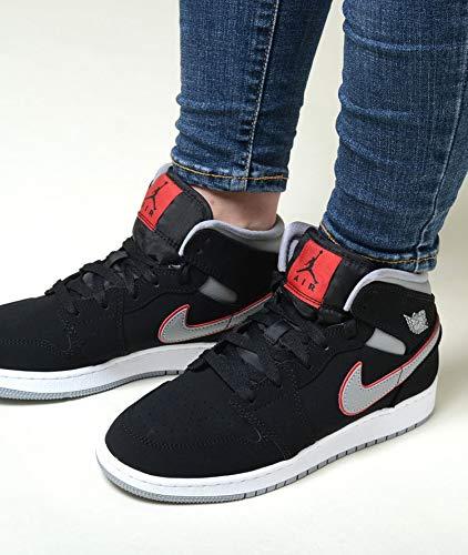 best sneakers 57058 b4720  ナイキ  AIR JORDAN 1 MID (GS) エア ジョーダン 1 ミッド (GS) ブラック×グレー レディース スニーカー  554725-060 7Y(25),- □商品説明 NIKE AIR JORDAN 1 MID GS ...