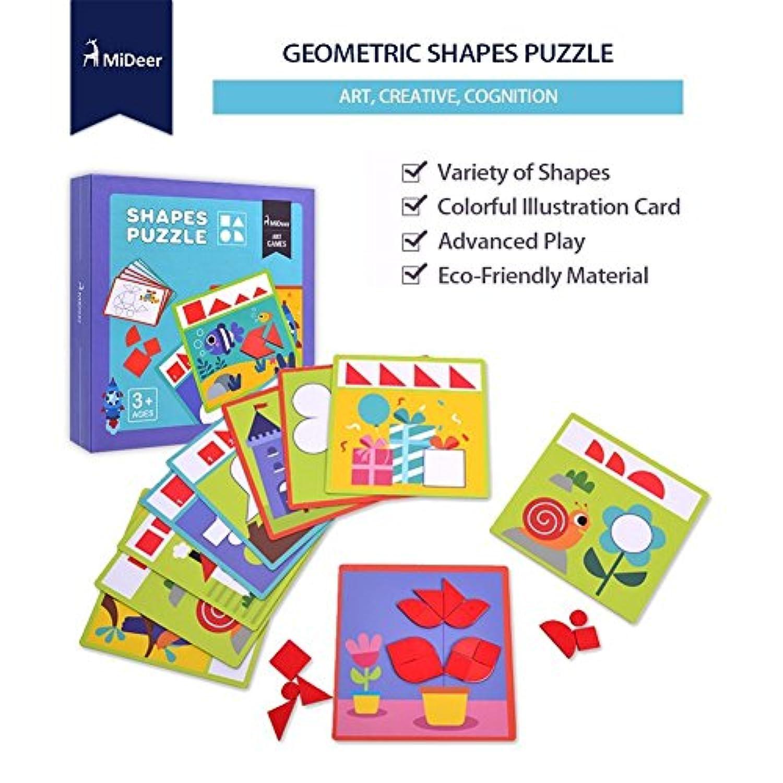 子供用パズルTeaching補助12両面シーンカードデザイン36個木製図形ブロック、の開発子供の知的