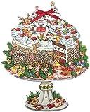 ドイツ製 アドベントカレンダー クリスマスケーキ(11732) 50cm×37cm
