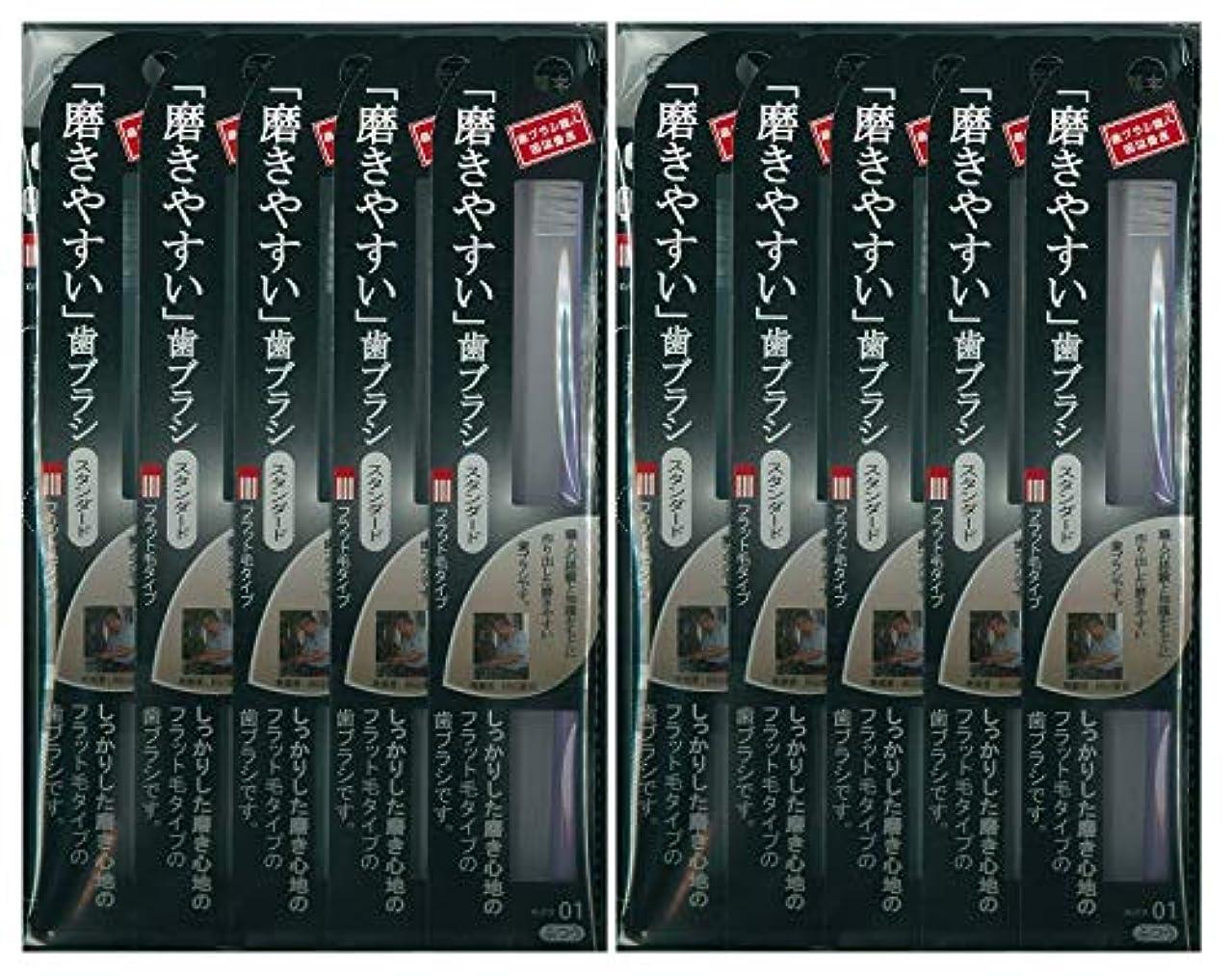 ひまわり電気ポルティコ歯ブラシ職人 田辺重吉考案 磨きやすい歯ブラシ ふつう (フラット) LT-01 1本入×24本セット
