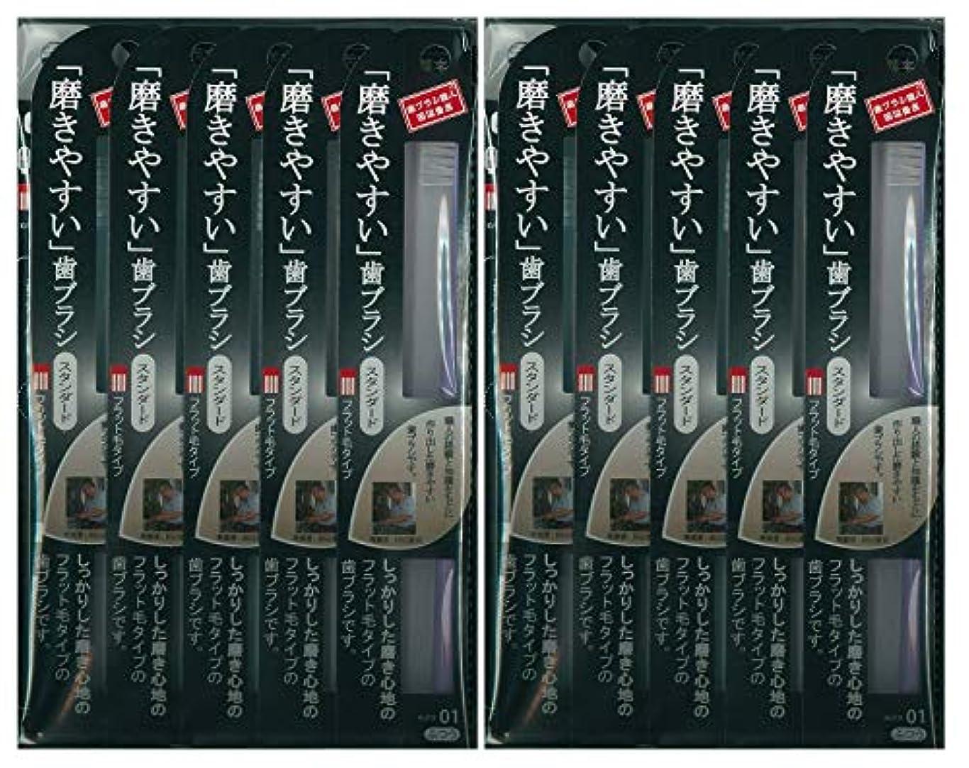 民間人滴下長椅子歯ブラシ職人 田辺重吉考案 磨きやすい歯ブラシ ふつう (フラット) LT-01 1本入×24本セット