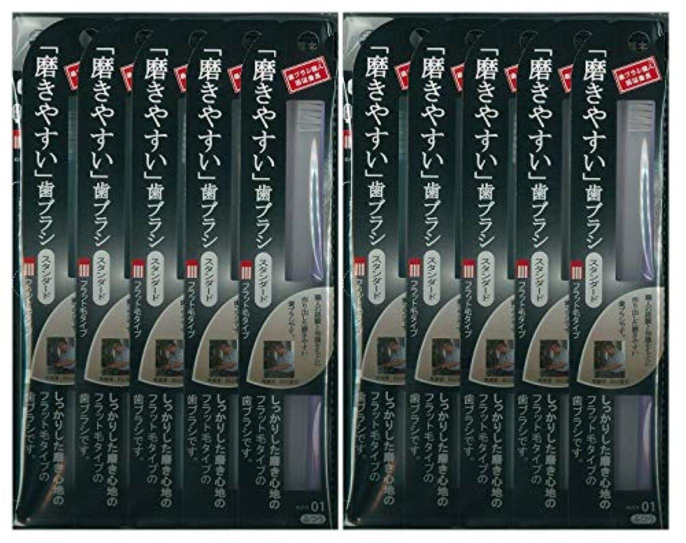 歯ブラシ職人 田辺重吉考案 磨きやすい歯ブラシ ふつう (フラット) LT-01 1本入×24本セット