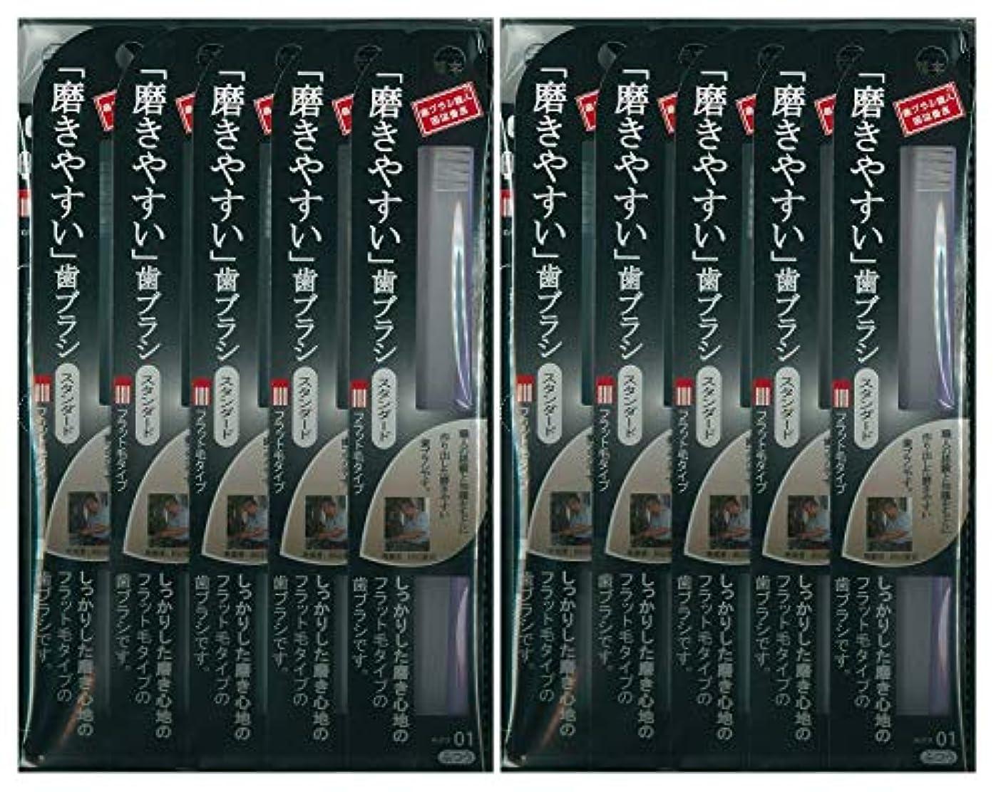 伝導固める憂慮すべき歯ブラシ職人 田辺重吉考案 磨きやすい歯ブラシ ふつう (フラット) LT-01 1本入×24本セット