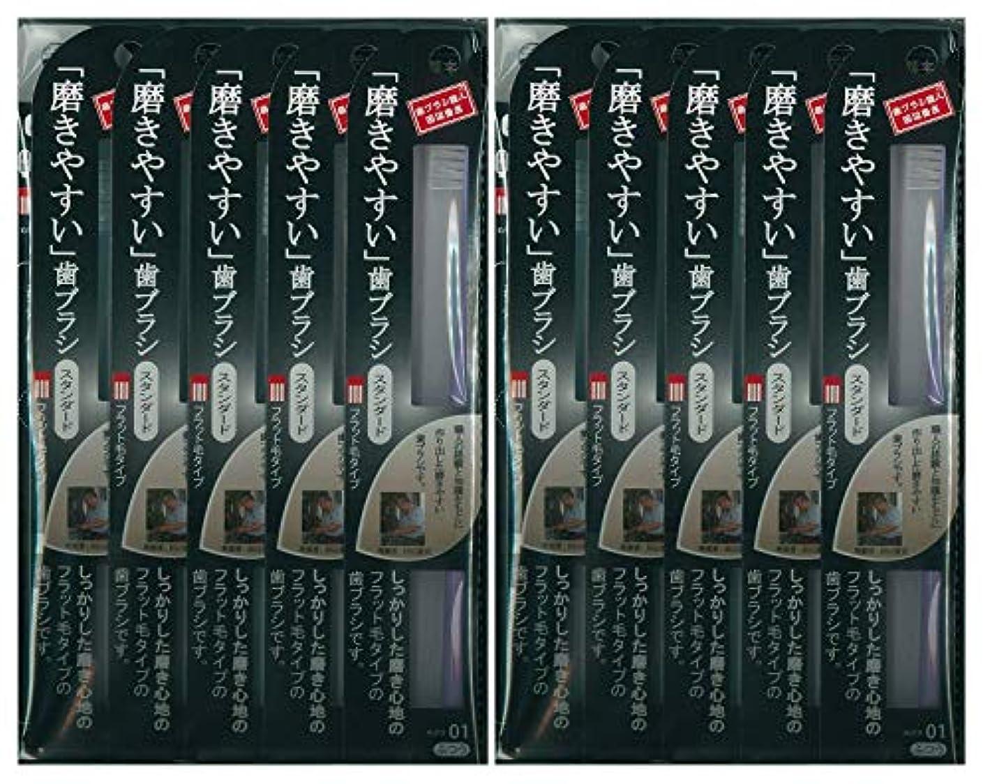 ゴール変数フォーマット歯ブラシ職人 田辺重吉考案 磨きやすい歯ブラシ ふつう (フラット) LT-01 1本入×24本セット