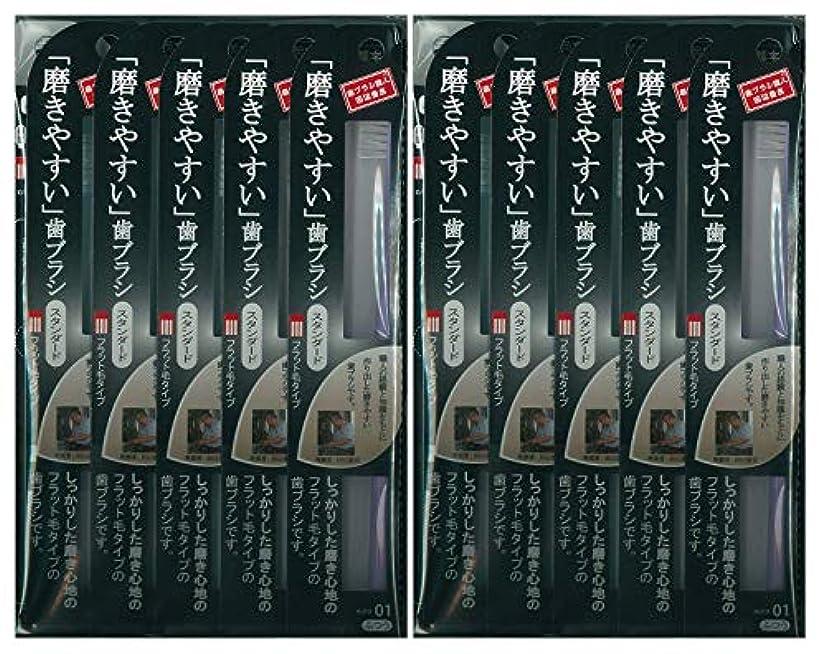 やろうはがき永久歯ブラシ職人 田辺重吉考案 磨きやすい歯ブラシ ふつう (フラット) LT-01 1本入×24本セット