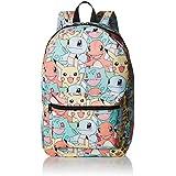 [バイオワールド]bioWorld Pokémon Pastel Kanto Starters All Over Print Backpack 190371345272 [並行輸入品]