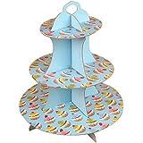 結婚式または誕生日のための美しい段ボールのカップケーキスタンドパーティー用品-A14