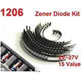 zmart 1206 SMD ツェナーダイオード 300個 0.5W 2V-27V 15種類