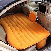 SUVカーエアマットアウトドア旅行キャンプインフレータブルベッド多機能車内エアベッドセットバックシート、オレンジ