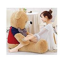 ASHDZ ぬいぐるみ、大きなテディベア、最高の贈り物、複数の色とサイズ give gifts ( Color : Light brown , Size : 180cm )