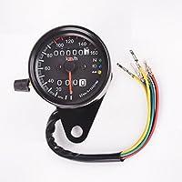 DELLING バイク用スピードメーター 最大速度表示160㎞/h 12V バックライト付き モンキー エイプ ダックス TW SR
