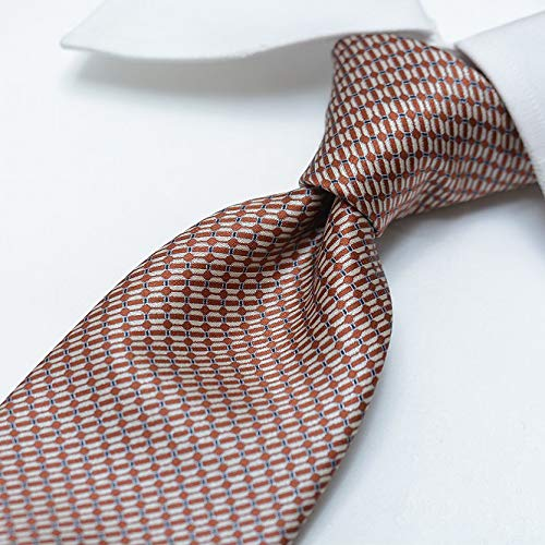 ブリオーニ (Brioni) HANDMADE ネクタイ メンズ シルク 100% 総柄 ボルドー 赤 茶/イタリア ブランド ビジネス 結婚式 ギフト【並行輸入品】