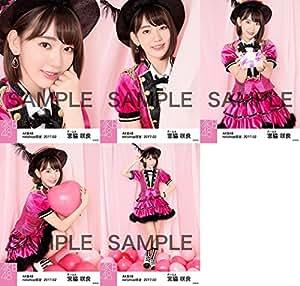 【宮脇咲良】 公式生写真 AKB48 2017年02月 個別 「ピンク鼓笛隊」衣装 5種コンプ