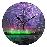 壁時計 かけ時計 オシャレな 極光 インテリア お部屋 寝室 に 飾り 記念日 引っ越し プレゼント