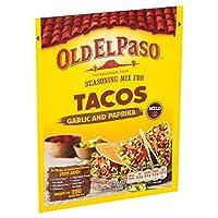 [Old El Paso ] 古いエルパソのニンニクとパプリカタコス調味料ミックス25グラム - Old El Paso Garlic and Paprika Taco Seasoning Mix 25g [並行輸入品]