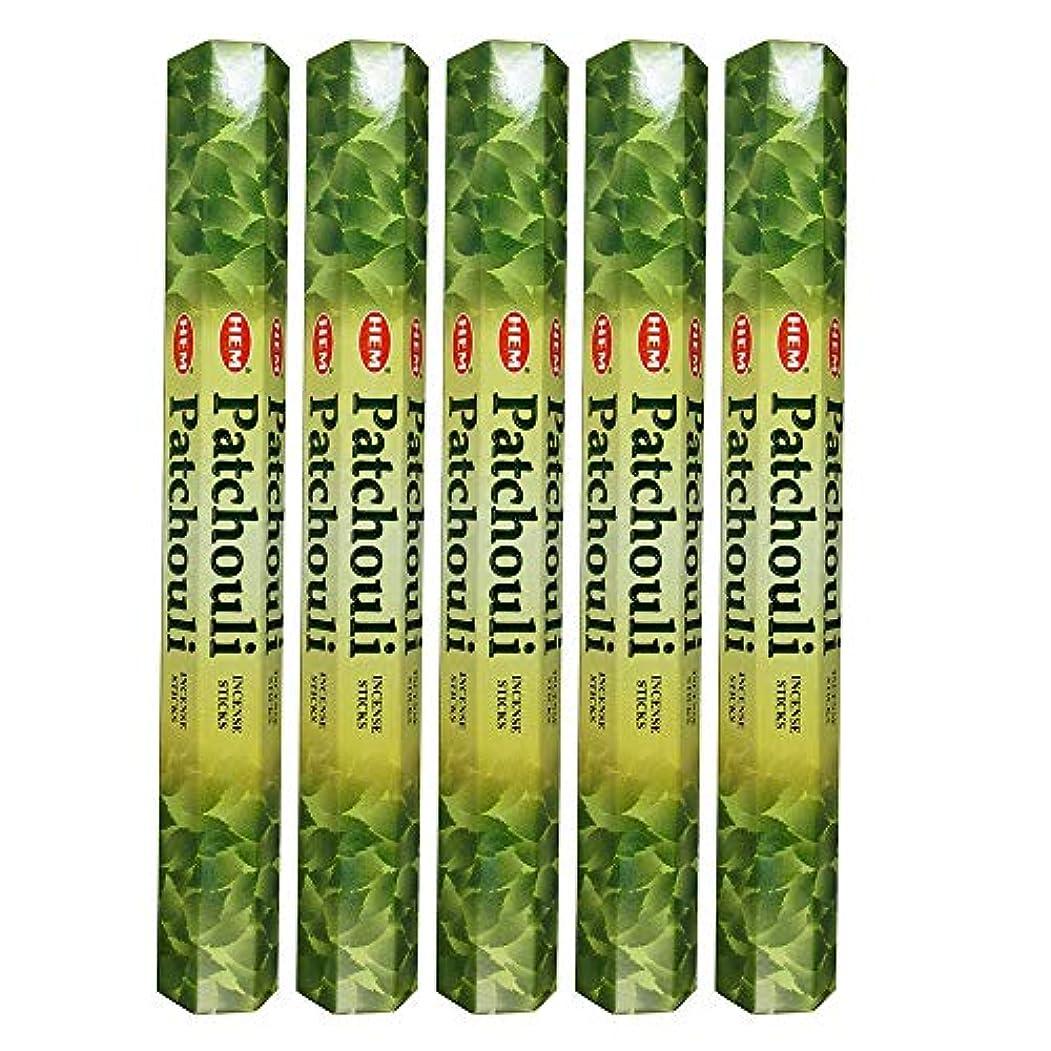 登場密度回路Hemパチョリ100 Incense Sticks (5 x 20スティックパック)