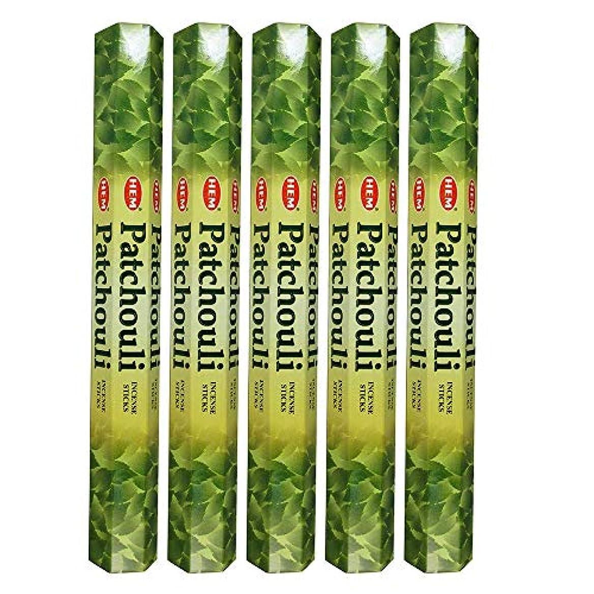 同じ湿地国民投票Hemパチョリ100 Incense Sticks (5 x 20スティックパック)