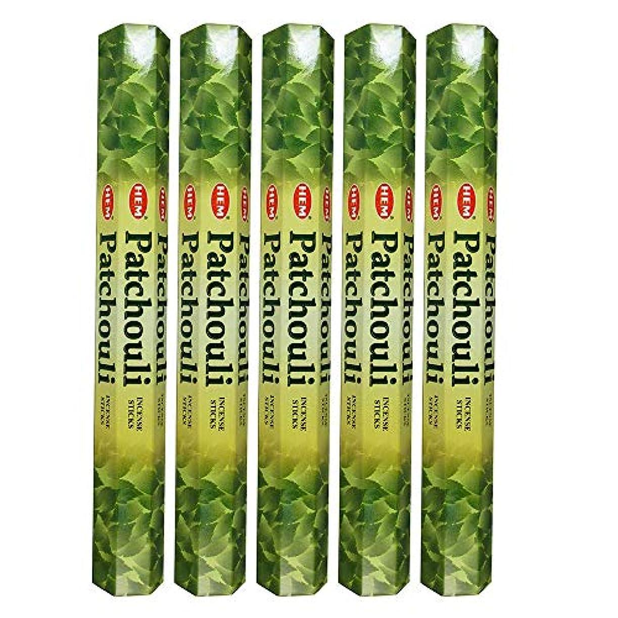 船上不安定な穿孔するHemパチョリ100 Incense Sticks (5 x 20スティックパック)
