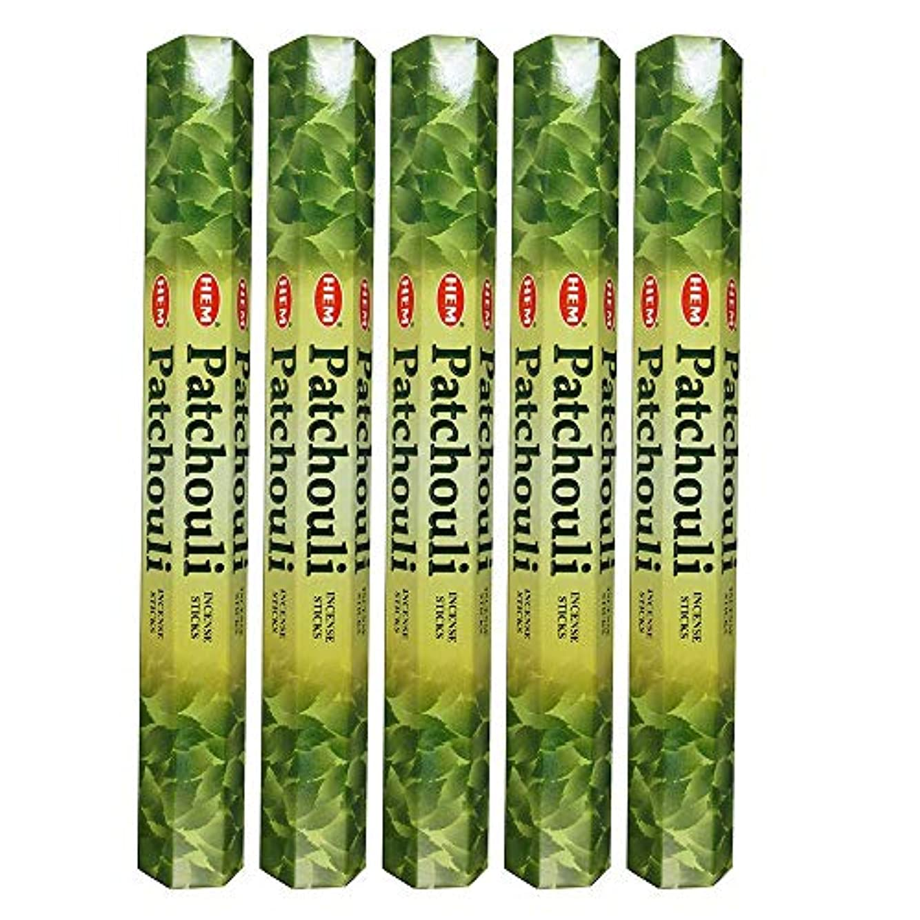 チップ卑しい計算するHemパチョリ100 Incense Sticks (5 x 20スティックパック)