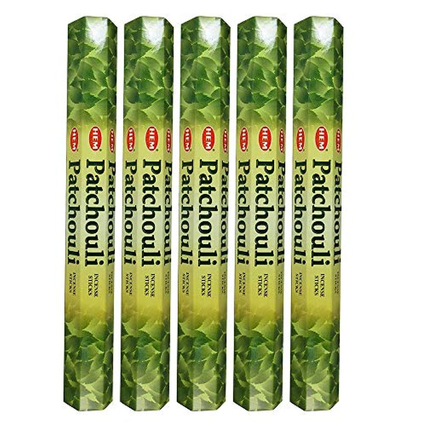 Hemパチョリ100 Incense Sticks (5 x 20スティックパック)