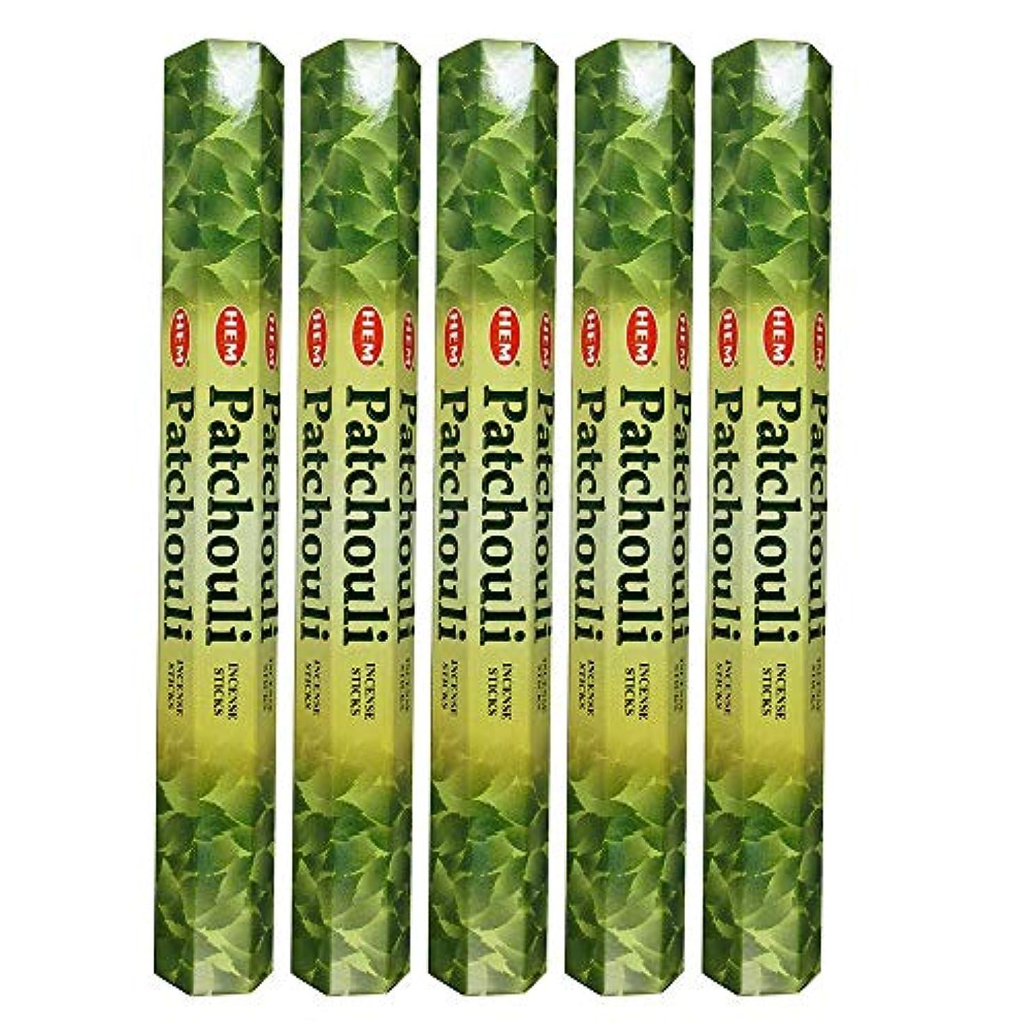 有効化腸滑るHemパチョリ100 Incense Sticks (5 x 20スティックパック)