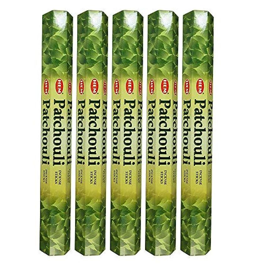 先かるHemパチョリ100 Incense Sticks (5 x 20スティックパック)