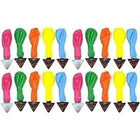 サカイトレーディング 光る風船20枚 LEDバルーン風船 20P (5色カラー ×4袋 カラー アソート 合計20個セット) パーティーイベントが大盛り上がり SA-3445